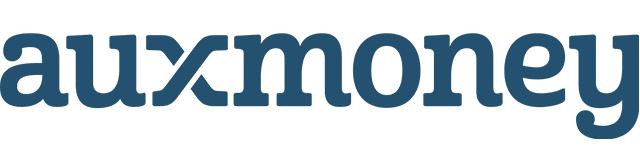 Das Logo von auxmoney